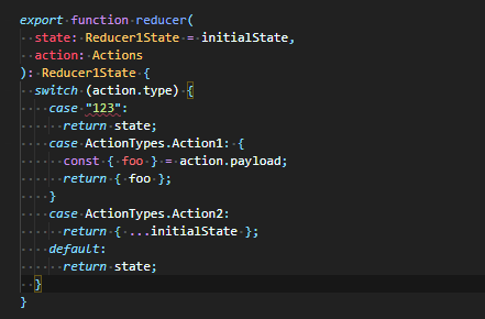 Action type checking